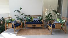 Vintage Cane Furniture with new cushions inlcuded in Home & Garden…