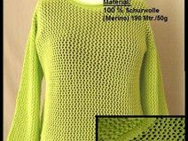 Strickanleitung Ajour Top Strickmaschine Gr 42/44