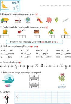 Learning French For Kids, Teaching French, Learn French, Learn English, Learning Activities, Kids Learning, Teaching Cursive Writing, Math Patterns, French Worksheets