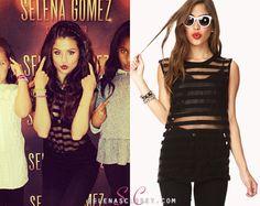 Get Selena Gomez's Forever 21 Sheer Shirt And Printed Pants! Selena Gomez Closet, Award Show Dresses, Forever 21 Shirts, Sheer Shirt, Latest Outfits, Celebs, Celebrities, Printed Pants, Woman Crush