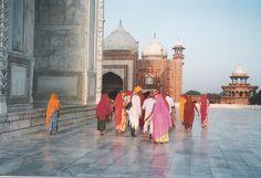 Agra, India.  Taj Mahal is simply beautiful.