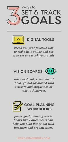 3 ways to set and track goals for your business. #business #businesstips #onlinebusiness #digitalmarketing #productive #productivity