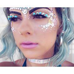 Details  Makeup by @itsinyourdreams in Ibiza   Artist: @katygillmua   Lashes: handmade by @itsinyourdreams   Brows: @cultbeauty @anastasiabeverlyhills #SophieTakesIbiza #ibiza #makeup #beauty #fblogger #zooproject #mermaid #mermaidmakeup #sequins #glitter #pearls #embellishment #gems #pinklips #mac #mermaidhair #pastelhair #pompoms #style #hudabeauty #vegas_nay #regalrose