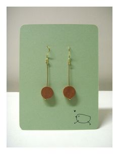 earrings, woody / available at http://www.etsy.com/hk-en/listing/173561137/minimalist-woody-round-earrings?ref=shop_home_active