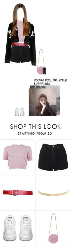 """Kris • Karaoke with Jimin"" by bubblecrew ❤ liked on Polyvore featuring Miu Miu, Topshop, Kenneth Jay Lane, MSGM and Forever 21"