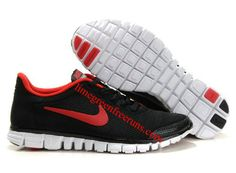 Nike Free 3.0 Mens Shoes Black Red under $ 50.00