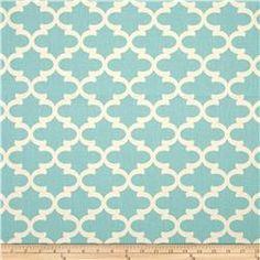 Premier Prints Fulton Village Blue/Natural