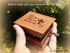 christening music box christening gift music by Simplycoolgifts, $60.00
