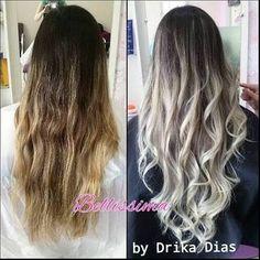 Resultado de imagen para ombre hair loiro perolado