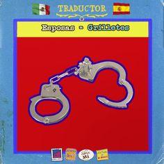 """Hay de esposas a """"esposas""""… unas inmovilizan más que otras! www.lapanzaesprimero.com #Traductor #MexicanosenEspaña"""