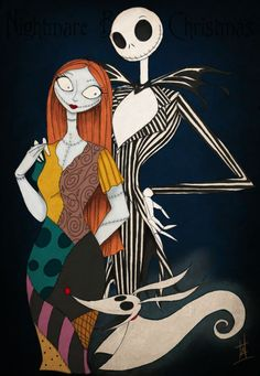 the nightmare before christmas characters: Sally and Jack Nightmare Before Christmas Characters, Sally Nightmare Before Christmas, Nightmare Before Christmas Wallpaper, Art Tim Burton, Tim Burton Kunst, Jack Skellington, Christmas Yard Decorations, Halloween Decorations, Halloween Ideas