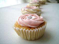 Simple and sweet baby announcement cupcakes with easy buttercream frosting.