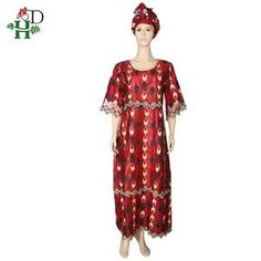 H&D woman bazin dress african lace dresses for women embroidery dashiki clothing XXXL maxi dress woman african dress with turban African Lace Dresses, African Dresses For Women, Ruffle Collar, Collar Dress, Dashiki Clothing, African Fashion, African Style, Ankara Gowns, Turban