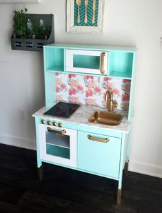 Custom Ikea Hack Duktig kids play kitchen Made by ReincarnatedbyB