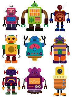 Illustration about Cartoon color robot icon, drawing. Illustration of doodle, bionic, machine - 18552195 Robot Icon, Arte Robot, Robot Art, Robot Clipart, Vector Robot, Robots For Kids, Art For Kids, Robot Images, Robot Cartoon