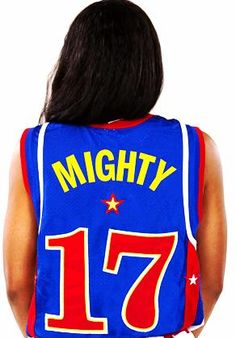 Globetrotter rookie, Mighty Mitchell, is tearing it up on the court already.  Get her official jersey before they sell out.