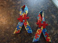 Autism awareness ribbons