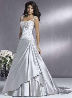 Alta qualidade beleza de prata Strapless A Line vestidos de casamento traje Pageant vestido feito sob medida 2 10 12 20 JLW914249 em Vestidos de noiva de Casamentos e Eventos no AliExpress.com   Alibaba Group