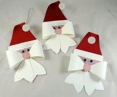 Lindos enfeites de natal feitos com lacinhos...imagens da net... Bom Dia!!!!