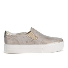 Buy Ash Women's Jungle Leather Flatform Skater Trainers - Gold from Allsole. Brogues Womens Outfit, Trainers, Slip On, Loafers, Footwear, Ankle, Clothes For Women, Sneakers, Gold