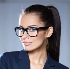 """Details about Square Clear Frames """"Kylie"""" Clear Lenses Women Eyeglasses Black, Brown Clear - - Glasses For Oval Faces, Glasses Frames, Eye Glasses, Kylie, Pandora Charms, Super Glasses, Homecoming Dresses Tight, Eyewear Online, High Ponytails"""