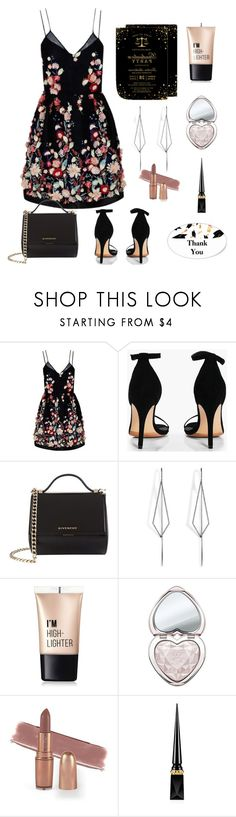 """""""Graduation Party#2"""" by marix10 ❤ liked on Polyvore featuring The 2nd Skin Co., Boohoo, Givenchy, Diane Kordas, Charlotte Russe, Too Faced Cosmetics and Christian Louboutin"""