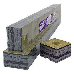"Grodan Rockwool Delta 8 Block / Cube 4""x4""x3"" With Hole Strip of 6 *BEST PRICE*"