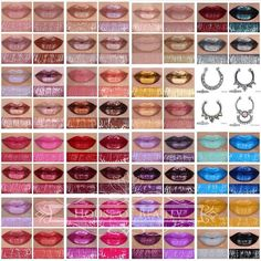 House of Beauty Lip Hybrids - I need these: Outcast, Kathryn, Gothica, Poison Plum, Fudge Me, Celebration