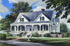 Southern Front Elevation Plan #137-265 - Houseplans.com