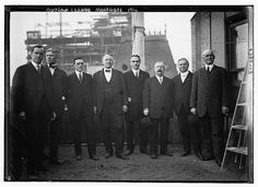 Outlaw League executives: left to right, Marshall Henderson, co-owner Pittsburgh; William T. Murphy, owner Cleveland; Ambrose Hussey Jr., co-owner, Brooklyn; William A. Witman, first league president and owner, Reading; Ernest C. Landgraf, co-owner, Rich | Bain News Service,, publisher.