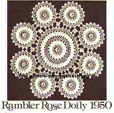Rambler Rose    Crochet Suggestions for Fairs and Bazaars  Star Book No. 121  1952