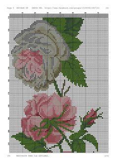 Cross Stitch Rose, Prayer Rug, Cross Stitching, Needlework, Diy And Crafts, Crocheting Patterns, Cross Stitch Embroidery, Floral, Railings
