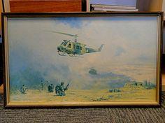 "236) Framed David Shepherd print of modern military interest ""Re-supply at Sarfait"" Est. £20-£30"