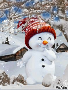 christmas fondos A winter cutie . Good morning I send winter hugs and snowflake kisses! May God bless everyone richly thru out the Christmas season and the New year to come! Merry Christmas Gif, Christmas Scenes, Vintage Christmas Cards, Christmas Pictures, Christmas Snowman, Winter Christmas, Christmas Time, Christmas Crafts, Christmas Decorations