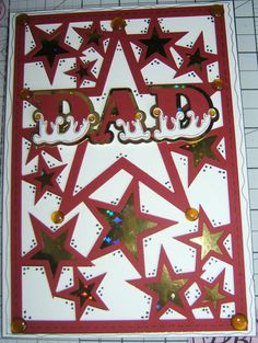 fathers day card but could easily be for a birthday made using cameo cutting machine