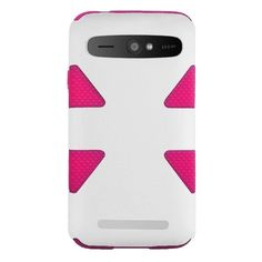 Insten Dynamic Dual Layer Hybrid Rubberized Hard PC Silicone Slim Phone Case Cover For ZTE Warp Sync N9515 (/) #1952527