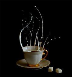 """Coffee Time"" is a high-speed photo shoot by Egor N.. Photos © Egor N. Link via Beautiful Life"