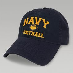 The Navy Football Twill Hat from Legacy is one of many great Navy Hats available. Shop the entire Navy hats collection and enjoy fast shipping and easy returns/exchanges. Navy Football, Football Design, Navy Midshipmen, Navy Cap, Go Navy, Baseball Hats, Shopping, Collection, Fashion