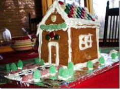 Child's gingerbread house