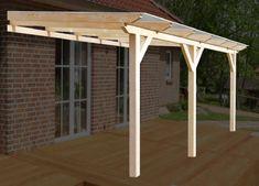 Komplett-Bausatz einer solidBASIC Holz-Terrassenüberdachung inklusive Bedachung mit 8mm VSG-Glas! Alle Maße erhältlich!