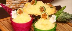 gelado ananás