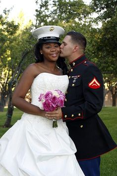Shyla & Richard's Las Vegas Vow Renewal ~ Gorgeous interracial military couple #love #wmbw #bwwm