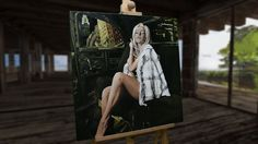 """#CourtneyStodden #CreationByKK Features  - Oil colour on canvas - Signed by the artist Measurements  - 60 x 60 cm / 24"""" W x 24"""" H Inch"""