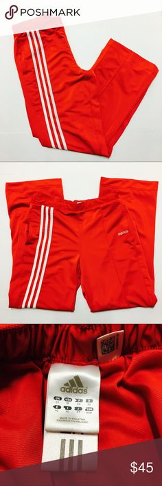 Adidas Vintage Red Joggers Track Pants 👟👟👟👟 Theses are supper tranny red Adidas joggers. Please see pictures for more details and measurements. adidas Pants Track Pants & Joggers
