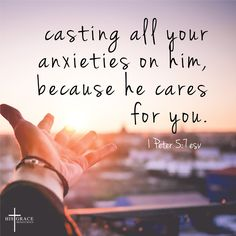 Life can get us down, but always remember God cares!