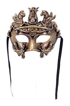 Venetian Eye Mask Colombina Cavalli for Men and Women