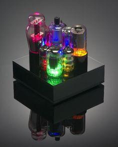 Browse our Rainbow of Gift Ideas 2017 Radio Vintage, Antique Radio, Arte Steampunk, Steampunk Lamp, Tech Art, Audio, Vacuum Tube, Diy Electronics, Computer Accessories