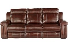 Oxford Street Burgundy Leather Sofa-Reclining Sofas (Red)