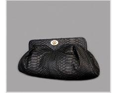 a7e552f9de8 Jranter Black Python Skin Dumpling Shaped Clutch Bag Large Version 2P2001B