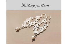 """Tatting Pattern, """"Miss Lulu"""", tatted lace earrings pattern - pdf"""
